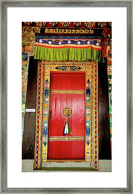 Art In The Architecture Of A Buddhist Framed Print