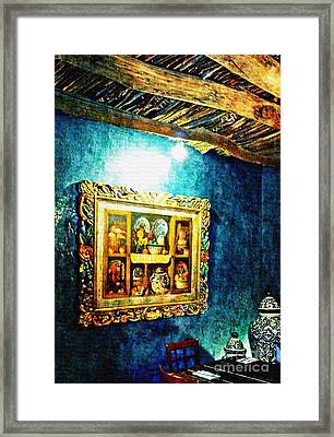 Art In The Blue Room Framed Print by Barbara Chichester