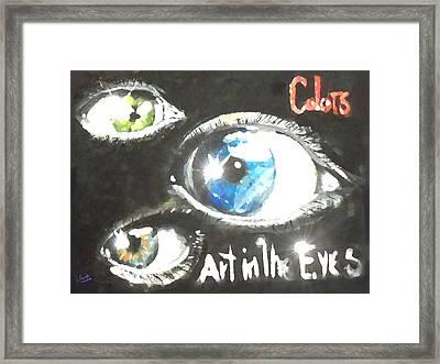 Art In The Eyes 2 Framed Print