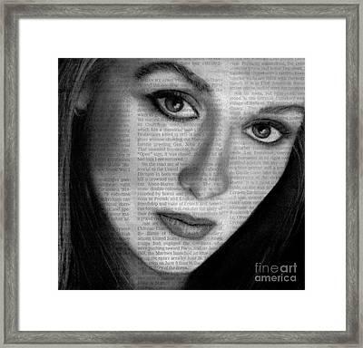 Art In The News 34- Meryl Streep Framed Print