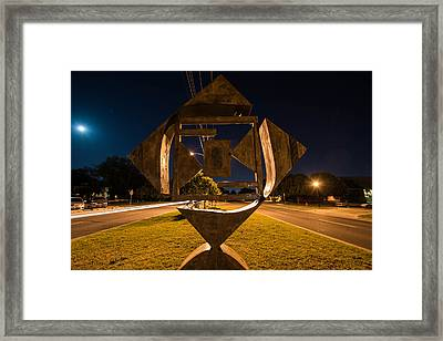 Art In The Road Framed Print