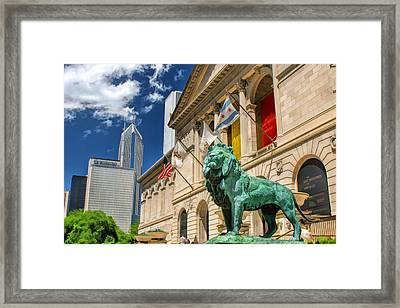 Art Institute In Chicago Framed Print by Christopher Arndt