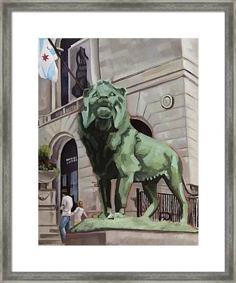 Art Institute Of Chicago An Act Of Defiance Framed Print