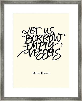 Art Lessons Meister Eckhart Framed Print by Susan Gaylord