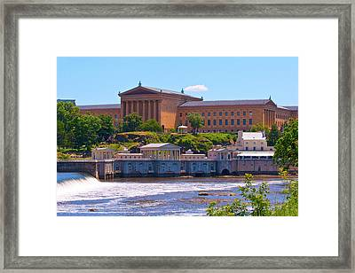 Art Museum And Fairmount Waterworks - Hdr Framed Print