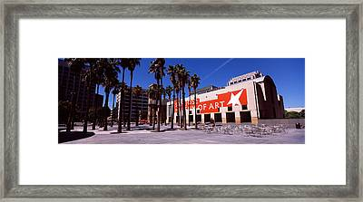 Art Museum In A City, San Jose Museum Framed Print by Panoramic Images