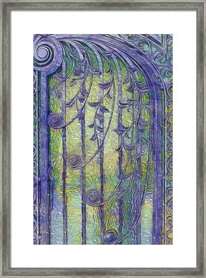 Art Nouvau Door Framed Print by Jack Zulli