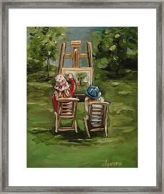 Art Of Teaching Oil Painting Framed Print by Dyanne Parker