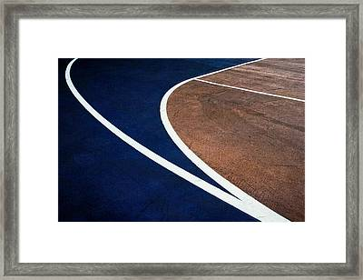 Art On The Basketball Court  11 Framed Print