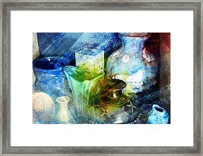 Art Pottery Still Life In Light And Color Framed Print by John Fish