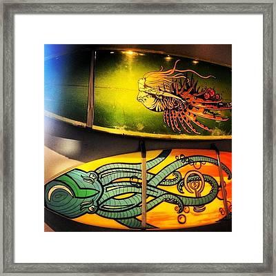 #art #surf #surfboard #saltlife Framed Print