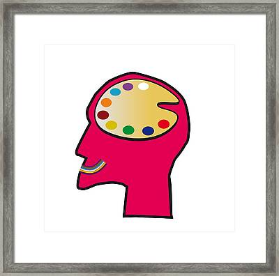 Art Therapy, Conceptual Artwork Framed Print