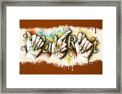A.r.t. Framed Print by Vanessa Bates