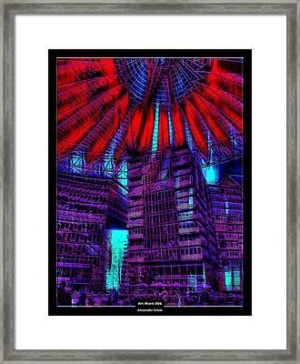 Art Work 006 Sony Center Berlin Framed Print by Alexander Drum