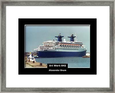 Art Work 045 Passenger Ship Framed Print