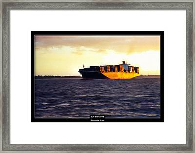 Art Work 093 Container Ship Framed Print by Alexander Drum