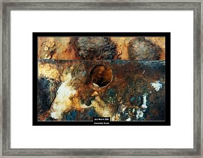Art Work 206 Ship Rust Framed Print by Alexander Drum