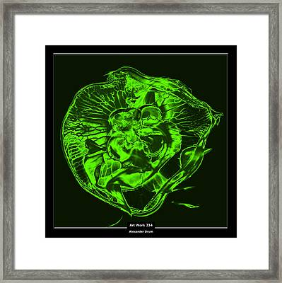 Art Work 234 Jellyfish Green Framed Print by Alexander Drum
