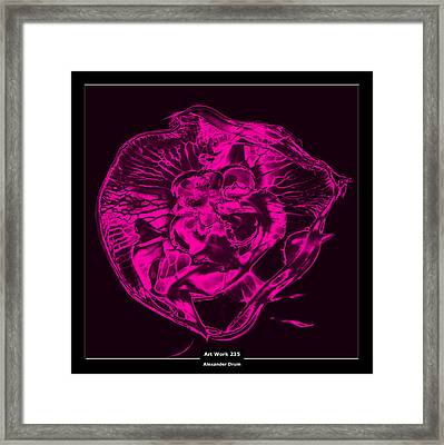 Art Work 235 Jellyfish Pink Framed Print by Alexander Drum
