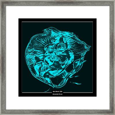 Art Work 236 Jellyfish Blue Framed Print by Alexander Drum