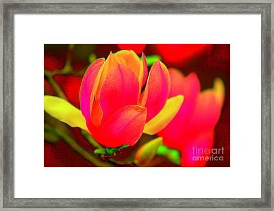 Artdeco Flower Framed Print