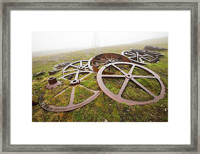 Artefacts At An Abandoned Coal Mine Framed Print