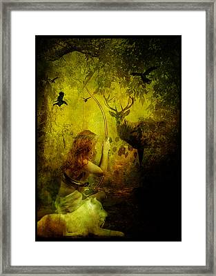 Artemis Framed Print by Mary Hood