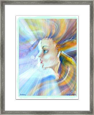 Framed Print featuring the painting Artemis by Leanne Seymour