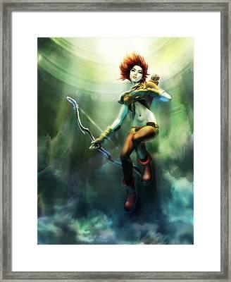 Artemis Rising Framed Print