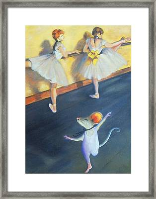 Artemouse With Dancers At The Barre Framed Print by Debbie Patrick