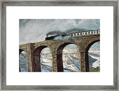 Arten Gill Viaduct Gouache Detail Framed Print