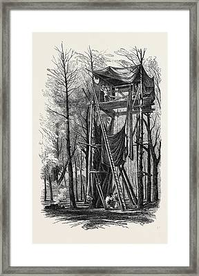 Artesian Boring Machinery, For Obtaining Water For The New Framed Print by English School