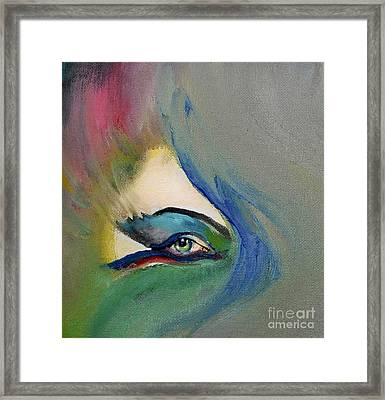 Framed Print featuring the painting Artful Eye Of Mine by Maja Sokolowska