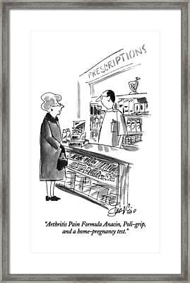 Arthritis Pain Formula Anacin Framed Print