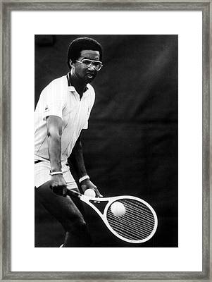 Arthur Ashe Playing Tennis Framed Print