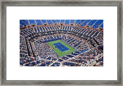 Arthur Ashe Stadium From High Angle Framed Print