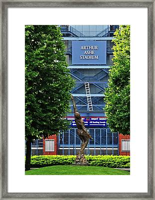 Arthur Ashe Stadium Framed Print by Mike Martin