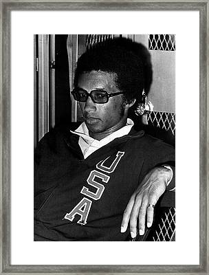 Arthur Ashe With Sunglasses Framed Print