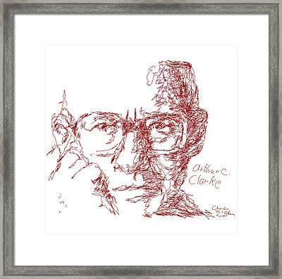 Arthur C. Clark Framed Print by Charles McChesney