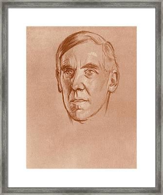 Arthur Clutton-brock (1868-1924) Framed Print by Granger