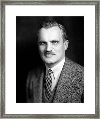 Arthur Compton Framed Print by Moffett Studio, Courtesy Aip Emilio Segre Visual Archives, Weber Collection, W. F. Meggers Gallery Of Nobel Laureates