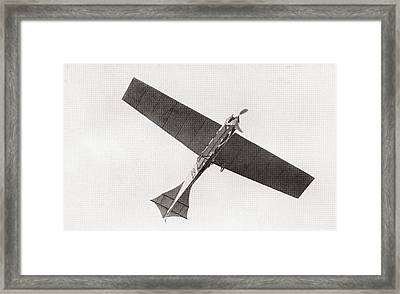Arthur Lathams Monoplane In The Air In 1909.  Arthur Charles Hubert Latham,  1883 –1912.  French Framed Print