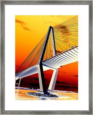 Arthur Ravenel Bridge 18 Framed Print by Ron Kandt
