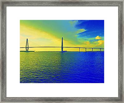 Arthur Ravenel Bridge 19 Framed Print