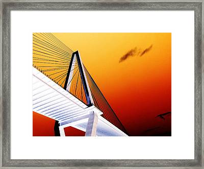Arthur Ravenel Bridge 25 Framed Print by Ron Kandt