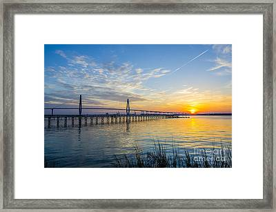 Calm Waters Over Charleston Sc Framed Print by Dale Powell