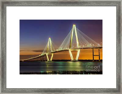 Arthur Ravenel Bridge Charleston Sc Framed Print