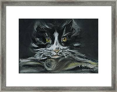 Framed Print featuring the pastel Arthur  by Teresa White
