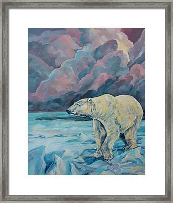 Artic Wanderer Framed Print by Derrick Higgins