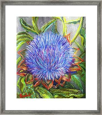 Artichoke Blossom Framed Print